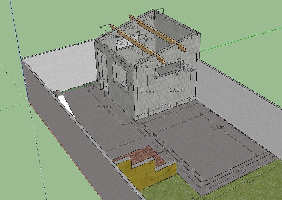 Cabane non chez nous enfin presque - Construire un abri de jardin en parpaing ...