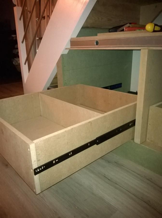 Am nagement sous escalier ba13 medium fermacell 27 messages - Fabriquer un tiroir en contreplaque ...