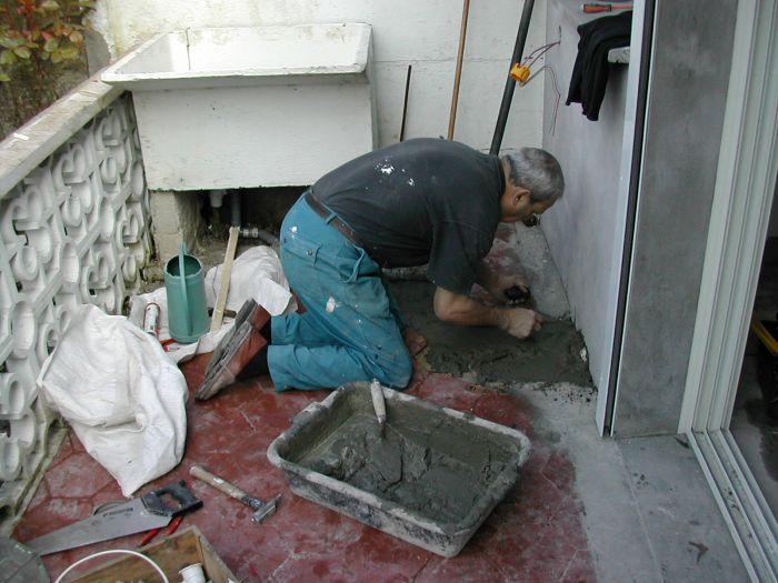 brancher l'évier extérieur