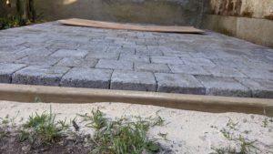 Terrasse pavés
